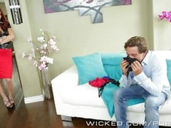 Hot Milf Monique Alexander takes care of young stud