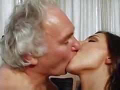 ugly old guy fucks a hot tiny brunette