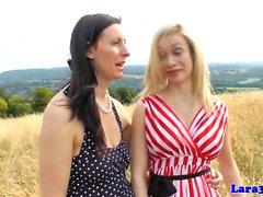 British milf straponfucked by busty lesbian