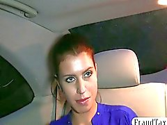 Sexy Euro amateur gets scammed by fraud taxi