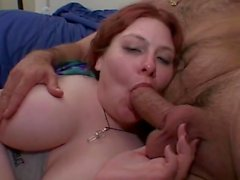 horny chubby mature threesome