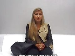 Cute Young 21yo Girl is not Sure about Hard infront of Camera