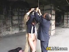 Japanese Schoolgirl Gets Pussy Shaved