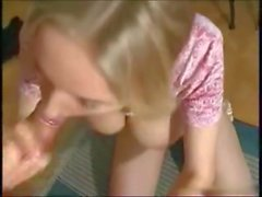 Pigtailed young blonde Petra gets tight pussy fucked