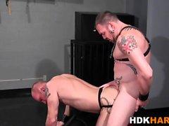 Kinky gay man barebacking