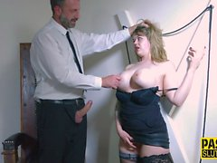 Busty bound submissive