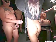 New MILF enjoyed her first Gangbang