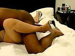 Ethnic cutie has a hung dude fucking her pussy in multiple