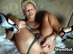 Blonde Mother Washes And Sucks Cock