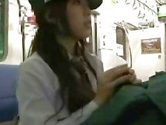 Japanese Police Women give Public Blowjob with cumshot on her beauty face