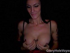 Del Brunette sexy Sucks Buco glorioso pene di Samantha Jaymes