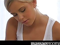 Massage foreplay and orgasm for sweet teen
