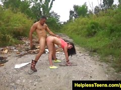 HelplessTeens Brittany Shae hardcore sex outdoors