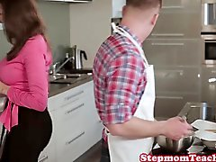 Busty stepmom Sensual Jane fucked with Nora