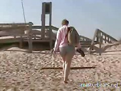Beach masturbation and squirting Monica 40 years