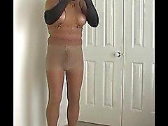 kahverengi çoklu katmanlar pantyhose