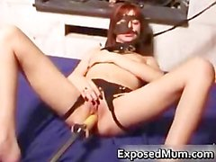 Kinky mom pussy drilled by a dildo part4