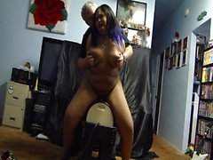 Maya on Sybian Stand
