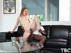 Teen doxy goes insane when she has a chance to ride bbc