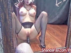 Kinky Milf Shanda Fay Masturbates in Stockings!