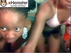 3 Freaky Lesbian Africans Playin' On Cam