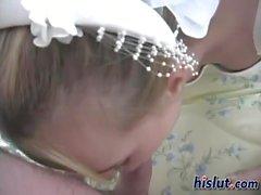 This bride got laid