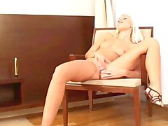 Gorgeous Blonde Teen Masturbates