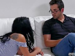 Spizoo - Watch Gina Valentina taking her step father's cock