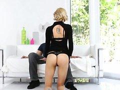 Blonde Hailey filled with cum