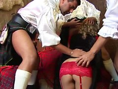 Amazing babes fucked by kilt guys