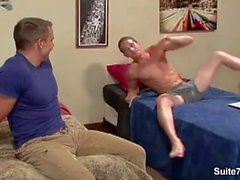 Naughty gay gets anally fucked