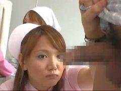 Dick erecto cuando la enfermera le ha importado