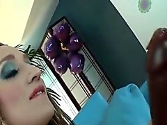 TS Gina Hart masturbates with a dildo