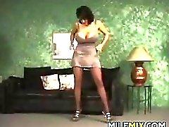 Busty MILF Striptease