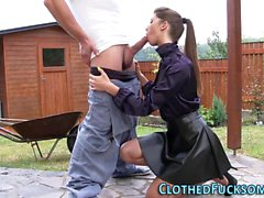 Spunk soaked clothed euro