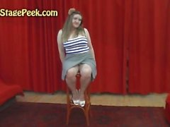 BJ and hard fuck with BBW teen in backstage
