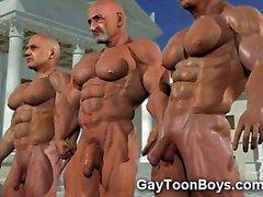 Gay Models 3D con le Grossi Cazzi e la i muscoli !