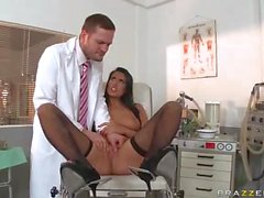doctor fucks brunette in every hole