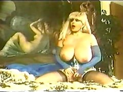 Busty vintage blonde solo masturbating