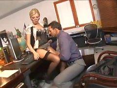 Secretary enjoys anal in the office