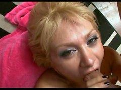 Busty Foreign Blonde LL Deepthroat Blowjob
