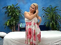 Cute blond Madison Ivy seduced and fucked hard by her