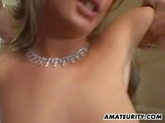 Amateur girlfriend double anal penetration with creampie