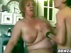 Fat Grandma And A Young Lover