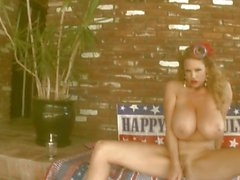 Big titted Kelly Madison loves tormenting her wet clit