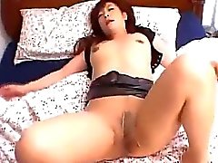Milf In Pantyhose Sucking Young Guy Cock Fucked Cum To Belly On The Bed