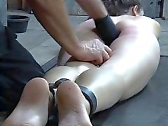 Fingerfucked restrained submissive tormented