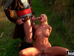 Nikki Sun gets pounded in the field