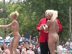 Sexy chicks being playfull like insane