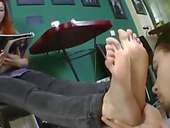 Beautiful girl foot worship